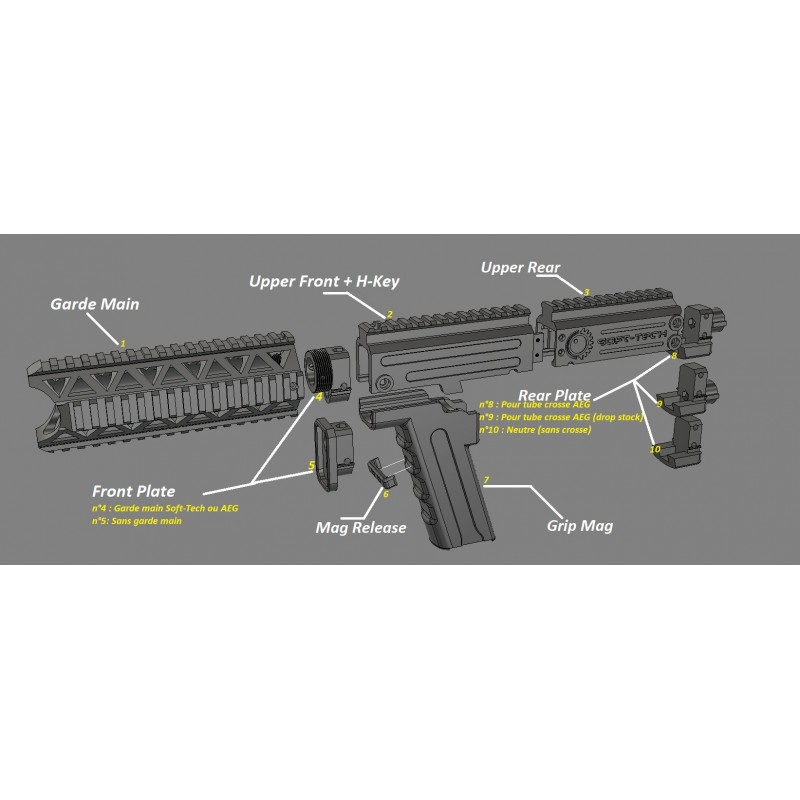 Recoil spring guide HK45 Soft-Tech